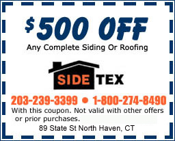 $500 off any complete siding of roofing